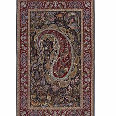 Isfahan extra fine, wool and silk - Carpet from Iran - 180 x 115