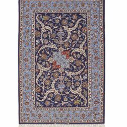 Isfahan Extra fin laine et soie - Tapis d'Iran - 169 x 112 -Net 10.800