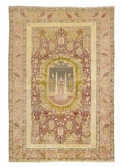Panderma antique pure soie-Tapis turc 200 x 138 - 27.600.- Net 19.300.