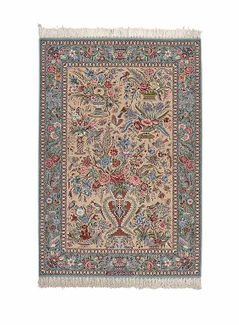 Isfahan extra fine, wool and silk - Carpet from Iran - 166 x 115
