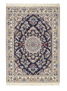 Nain extra fine, wool and silk - Iran 147 x 98 - 5,600 Net 3.600.-